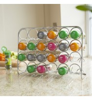 Pisa 24 Jar Spice Rack - Chrome