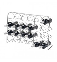 Pisa 24 Bottle Wine Rack - Chrome