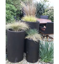 Satu Bumi Set of 3 Tall Cylinder Planters - Neo Coffee
