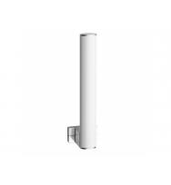 Pellet Arsis Elliptical Spare Toilet Roll Holder - White epoxy-coated Aluminium