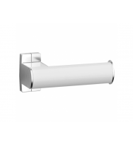 Pellet Arsis Elliptical Toilet Roll Holder - White epoxy-coated Aluminium