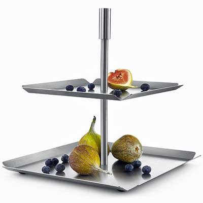 zack stainless steel cake fruit and pastry stand