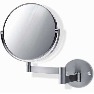 Zack Stainless steel Felice extending wall mirror