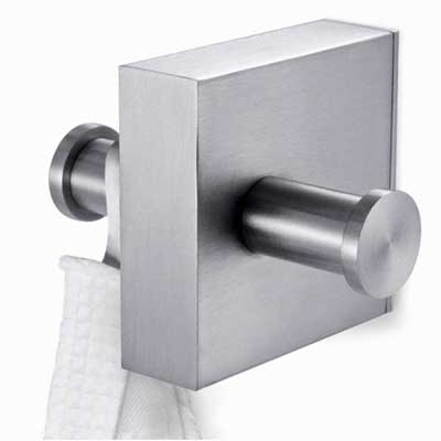 Zack Stainless Steel Fresco Double Towel Hook