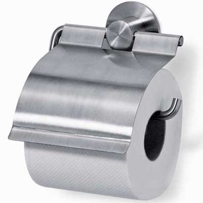 Zack Stainless Steel Marino Toilet Paper Holder with Lid