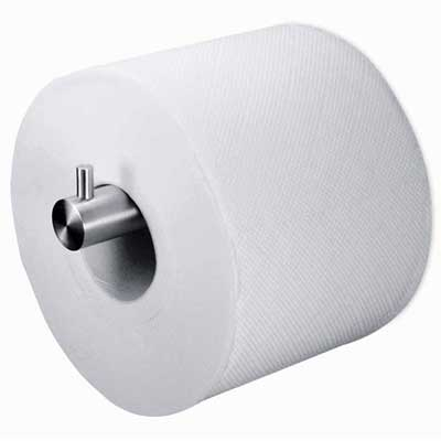 Zack Stainless Steel Civio Spare Toilet Roll Holder