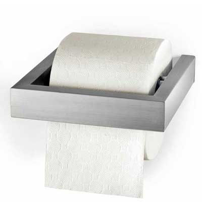 Zack Stainless Steel Linea Toilet Roll Holder