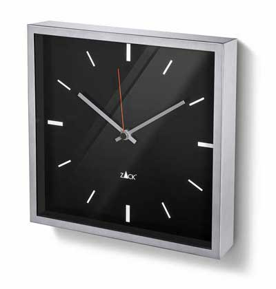 Durata Black Face Square Wall Clock