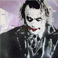 Heath Ledger Joker Banksy Graffiti
