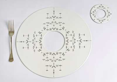 The Bodoni Ornament Placemat and Coaster Set