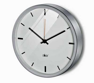 Zack Durata Wall Clock, White