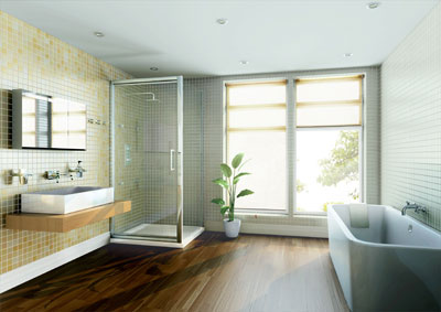in-fold shower door