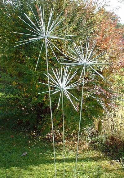 Steel Allium Sculptures from Ironvein