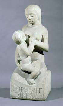 mother and child, Eric Gill