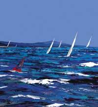 Sparkling seas painting