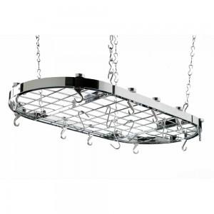 Hahn Oval Chrome Ceiling Rack