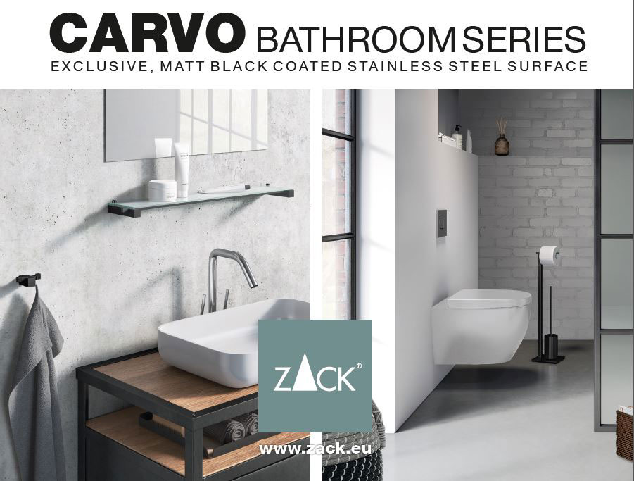 Zack Carvo Matt Black Bathroom Accessories